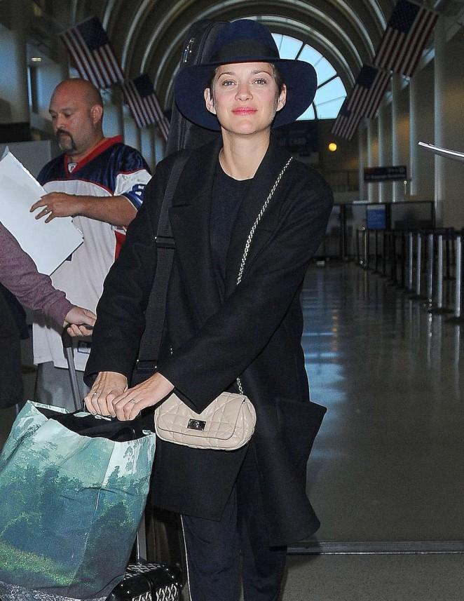Marion Cotillard at LAX airport in LA