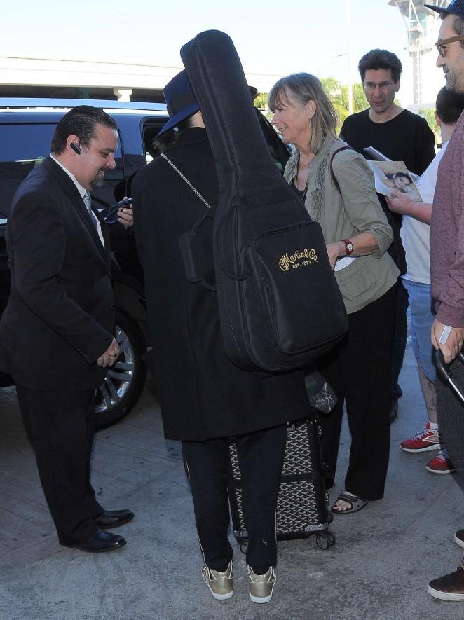 Marion Cotillard at LAX -12