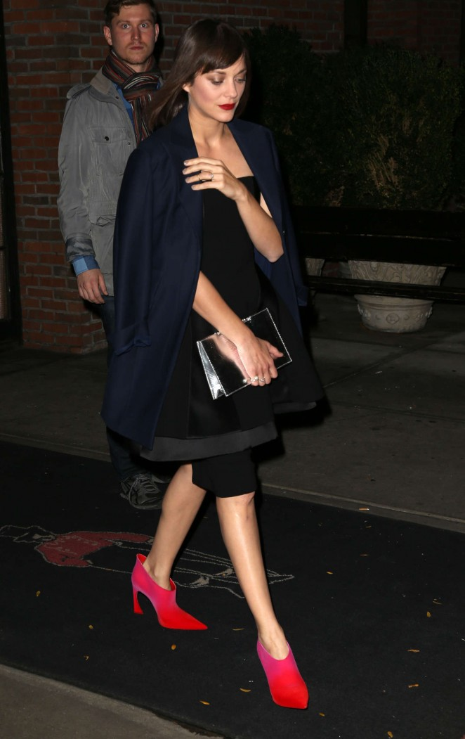 Marion Cotillard - Leaving The Bowery Hotel in NYC