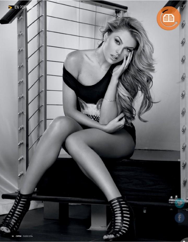 Hot skinny blonde high heels