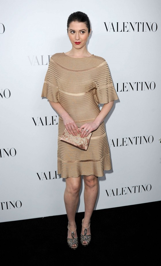 Mary Elizabeth Winstead hot at Valentino Store Opening