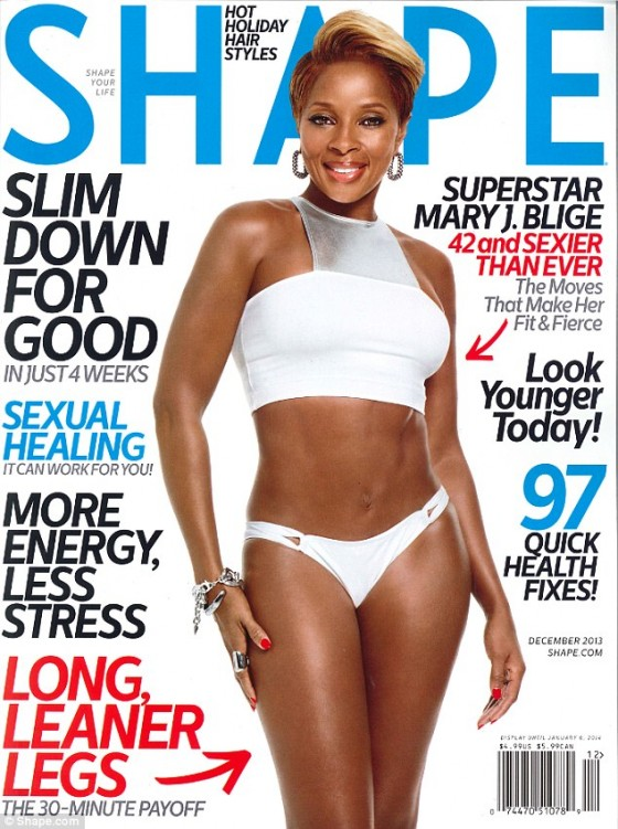 Mary J Blige: Shape Magazine Cover  -01