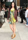 Mary Louise Parker shows her legs in mini dress at Lettermans show in NYC