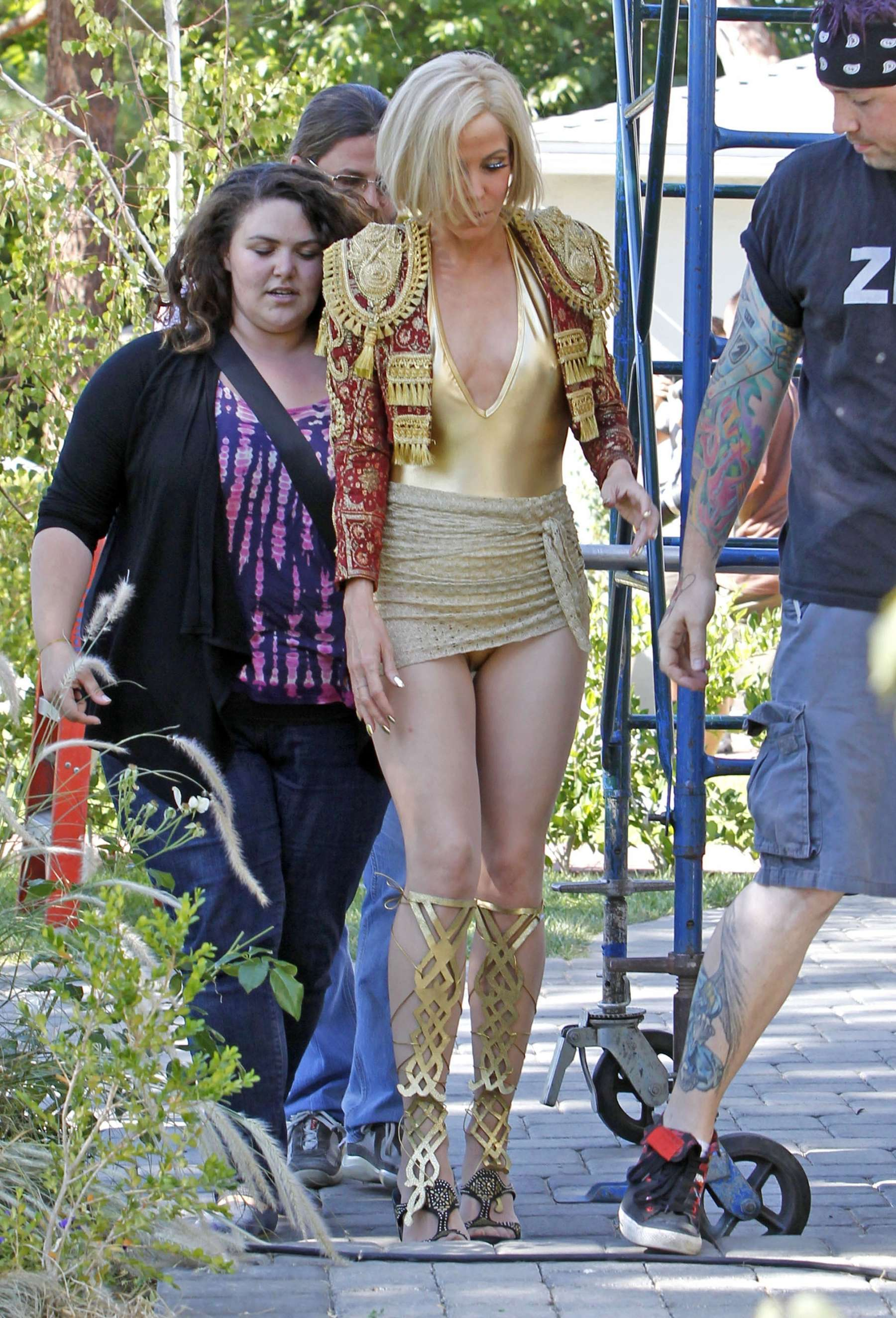 back to post mary louise parker in gold swimsuit on the set of feed