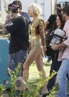 Mary Louise Parker hot in gold swimsuit-13
