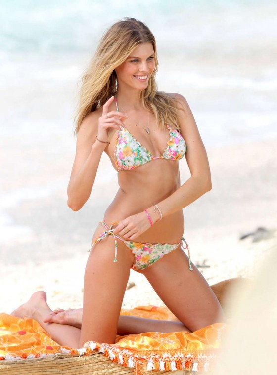 Maryna Linchuk in Bikini photoshoot in St. Barts