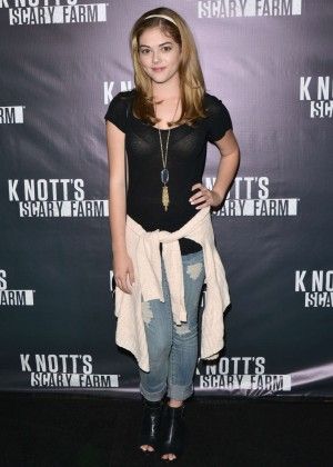 McKaley Miller - Knott's Scary Farm Opening Night in Buena Park