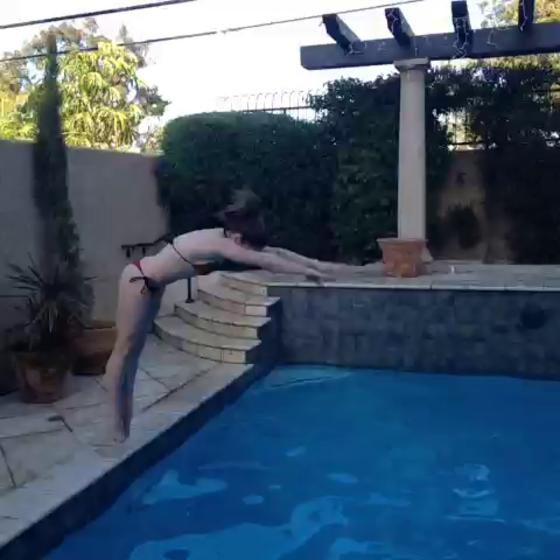 McKayla Maroney 2013 : McKayla Maroney – Wearing a Bikini at a Pool-02