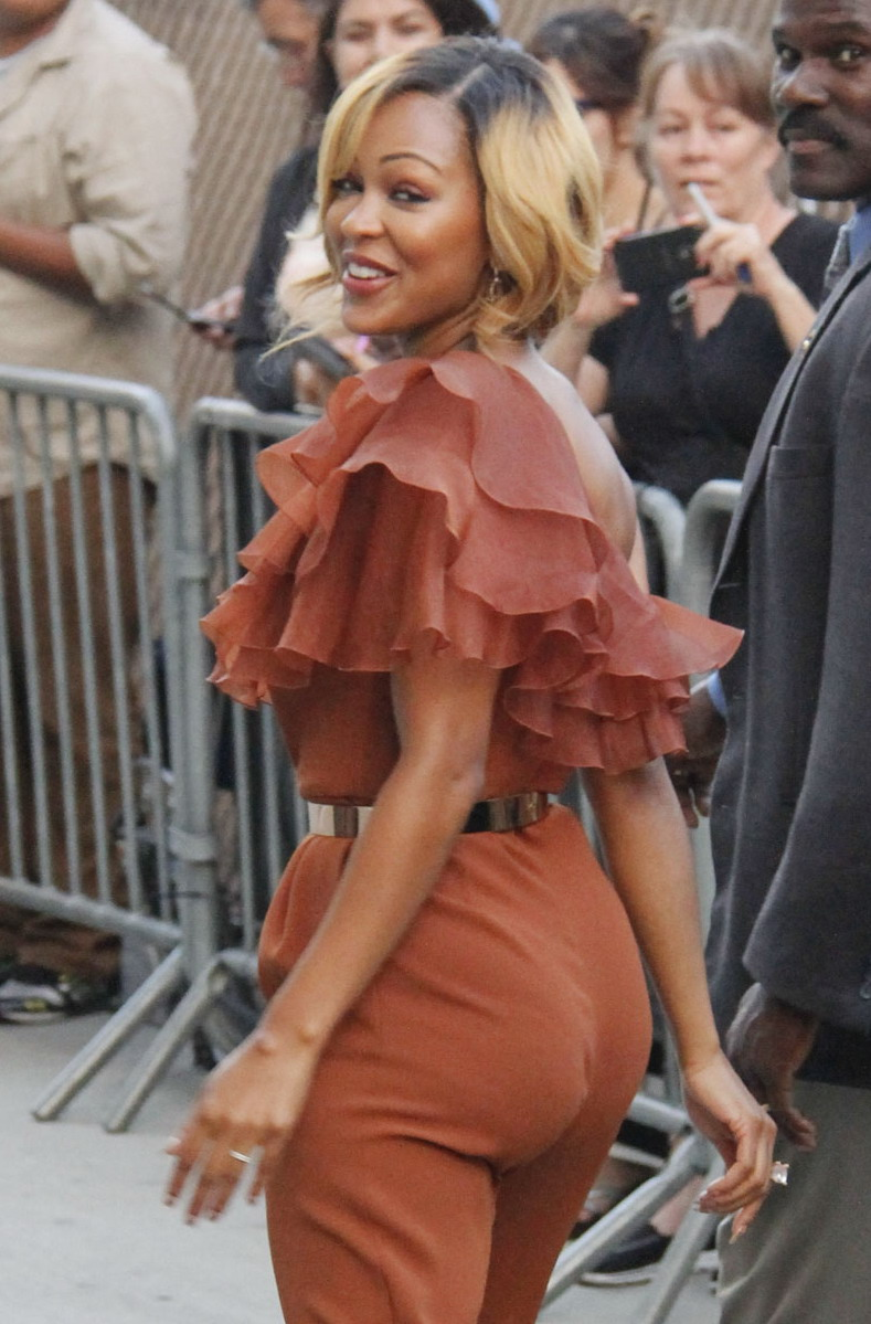 Meagan Good At Jimmy Kimmel Live In Hollywood 01 Full Size
