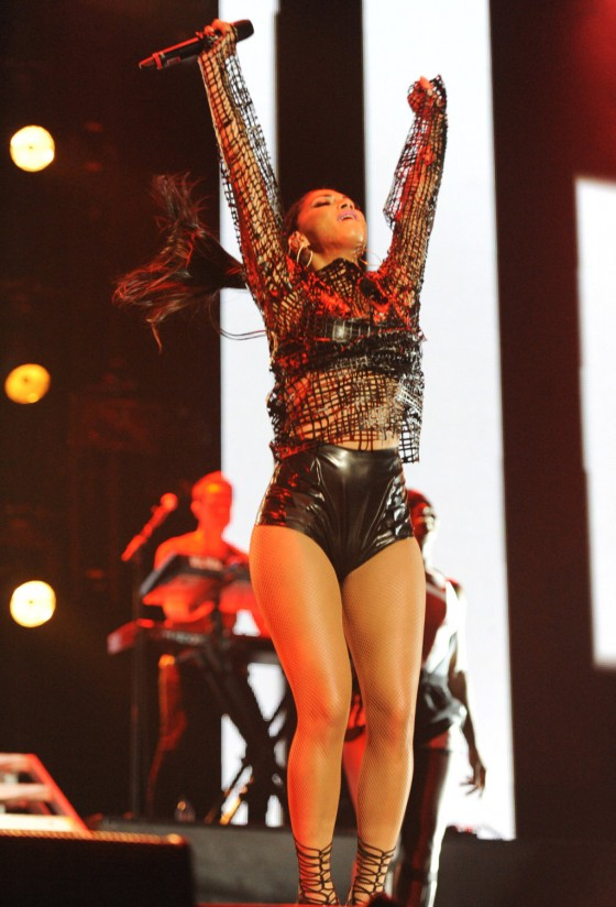 Nicole Scherzinger – Performing at Give It Up 2013 concert in London -09