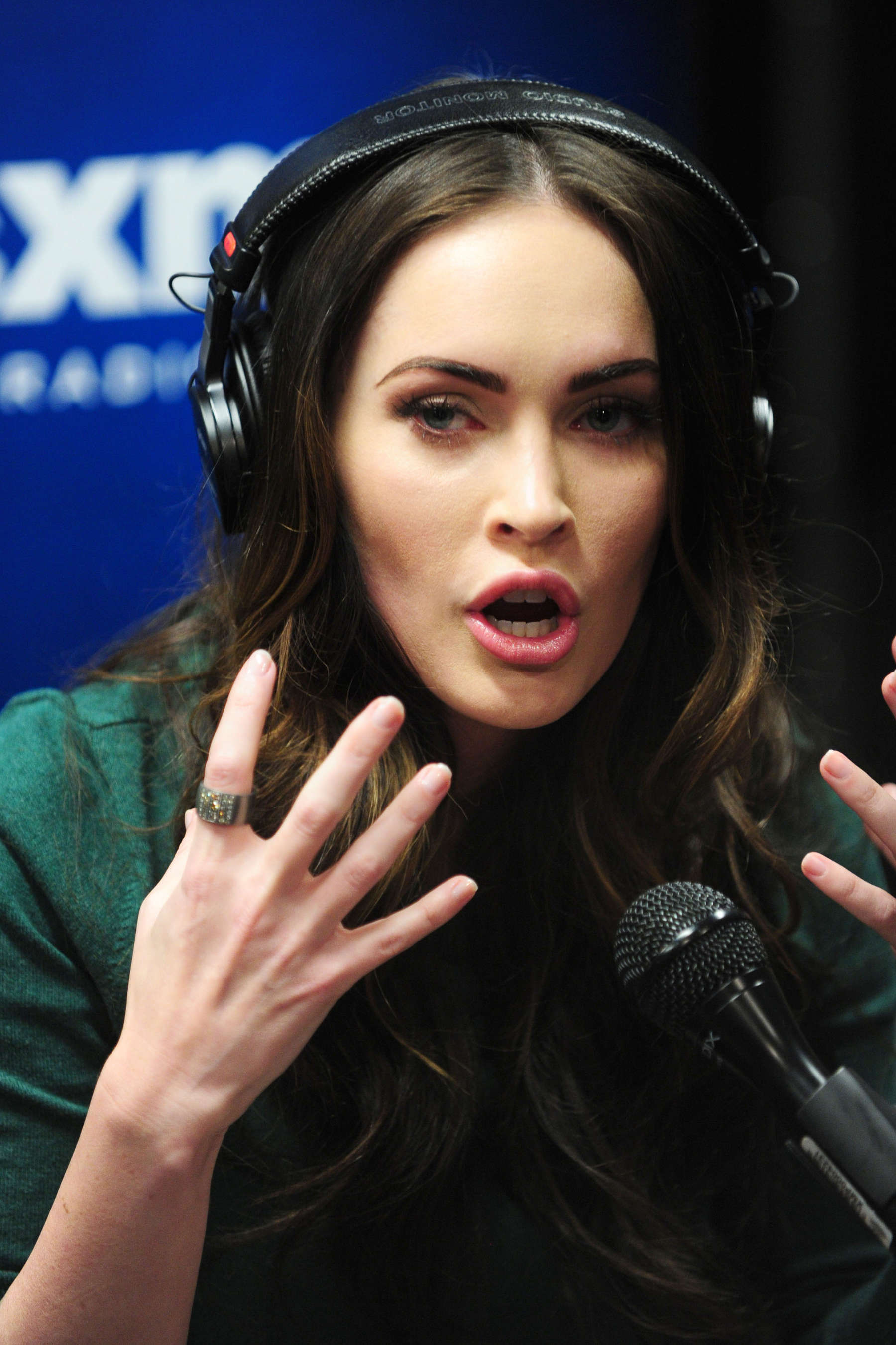 Back to FULL gallery Megan Fox at SiriusXM Radio in New York City
