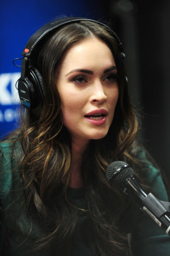 Megan Fox legs at SiriusXM Radio-14