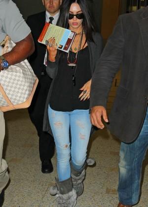 Megan Fox in Jeans at Sydney International Airport