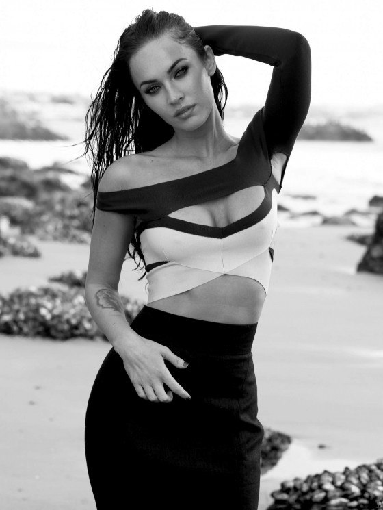 Megan Fox Elle magazine outtakes -07