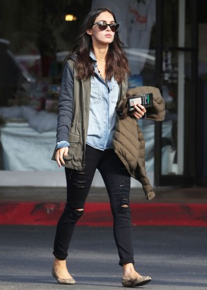 Megan Fox in Ripped Jeans out in Bel Air