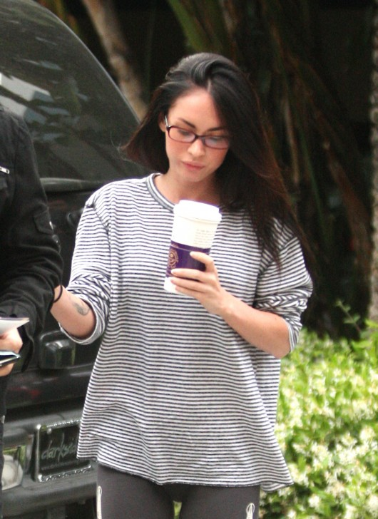 Megan Fox in spandex headed to Staples Center for Game 1