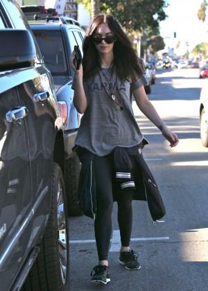 Megan Fox in Tights Out in LA