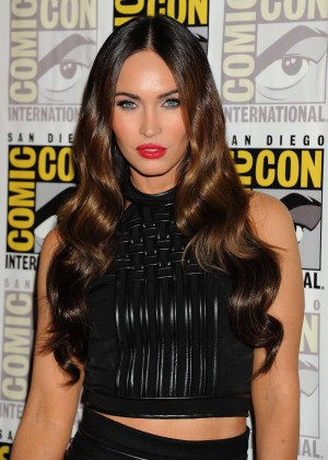 Megan Fox In Black Mini Dress at Comic-Con 2014 Paramount Studios presentation