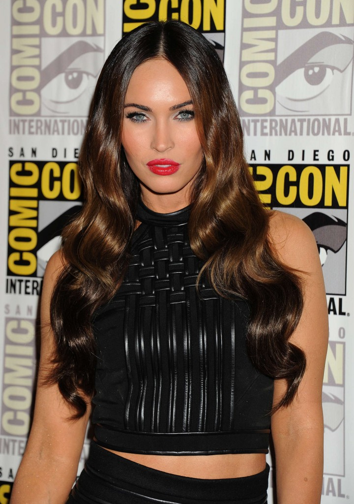 Megan Fox In Black Mini Dress at Comic-Con 2014 Paramount Studios presentation