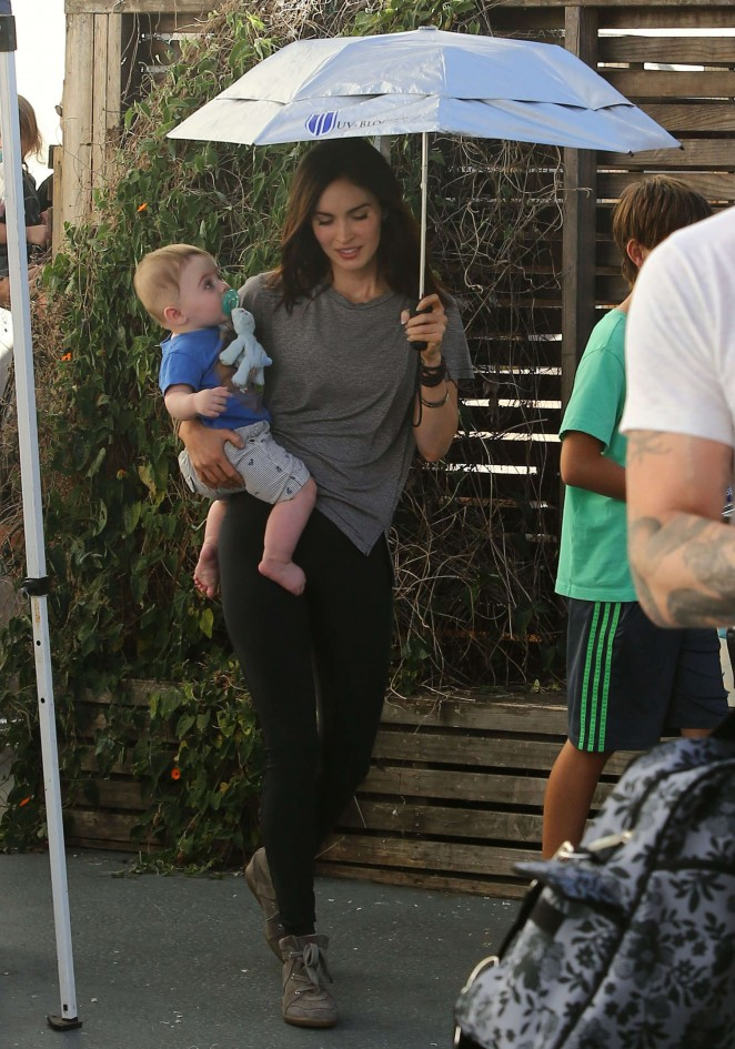Megan Fox Spotted at The Coop in Studio City -04