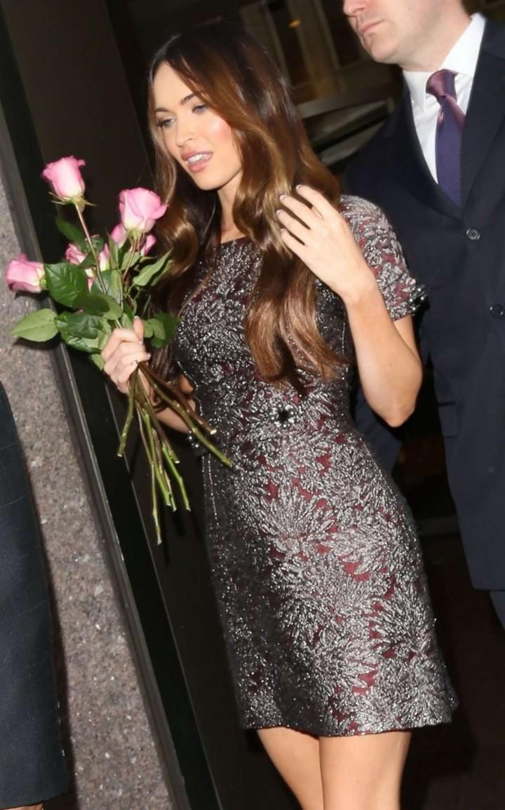Megan Fox in Short Dress - Visits SiriusXM Radio in NYC