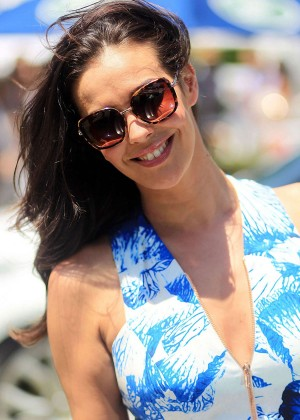 Megan Gale - Waterford Crystal Polo at Albert Park in Melbourne