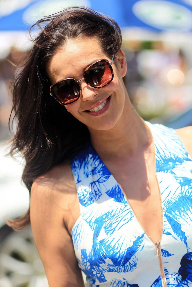 Megan Gale – Waterford Crystal Polo at Albert Park in Melbourne