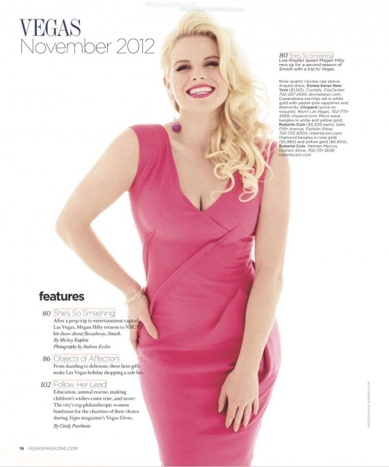 Megan Hilty - Vegas Magazine (Nov 2012)