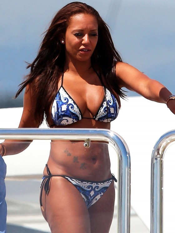 Melanie Brown - Bikini candids on a Yacht in the Cannes-02