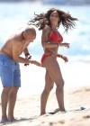 Melanie Brown - Hits Malibu beach in a red bikini -04