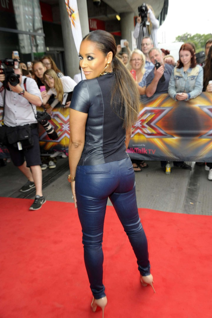 Melanie Brown in Leather at X Factor Auditions -01