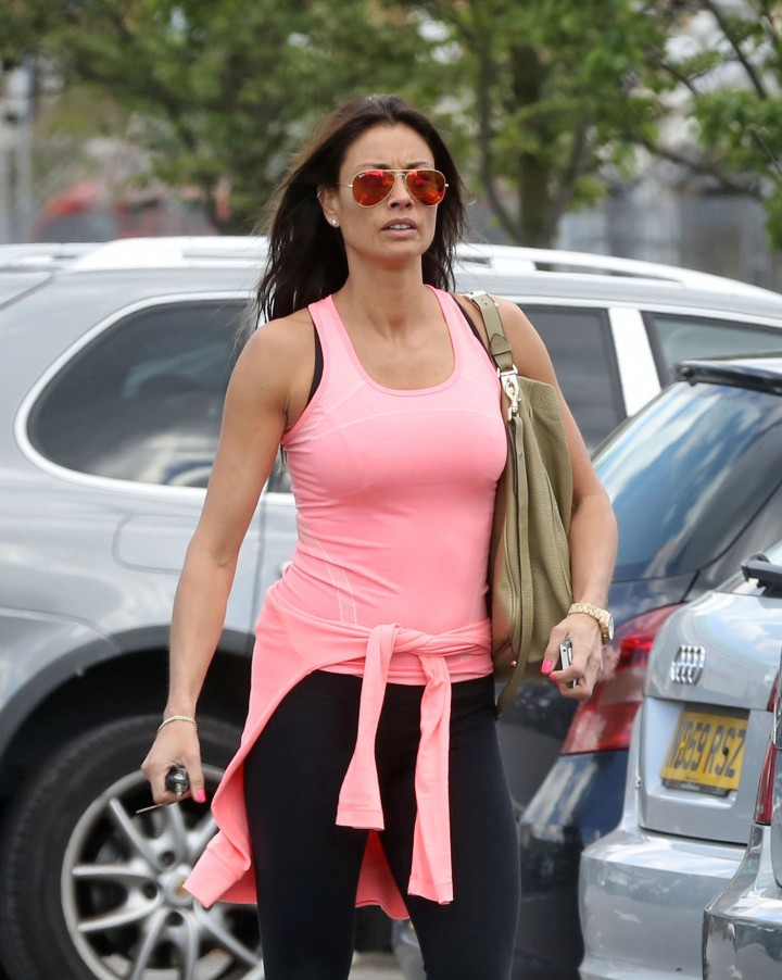 Melanie Sykes in Tights Heads to the gym in London