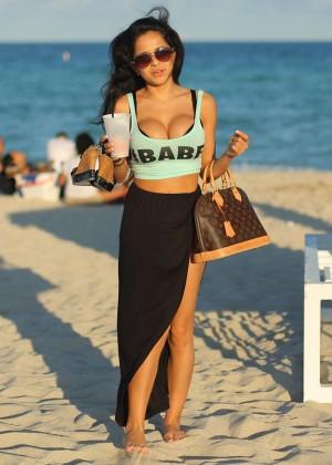 Melissa Ceja Bikini Photos: 2014 in Miami -15