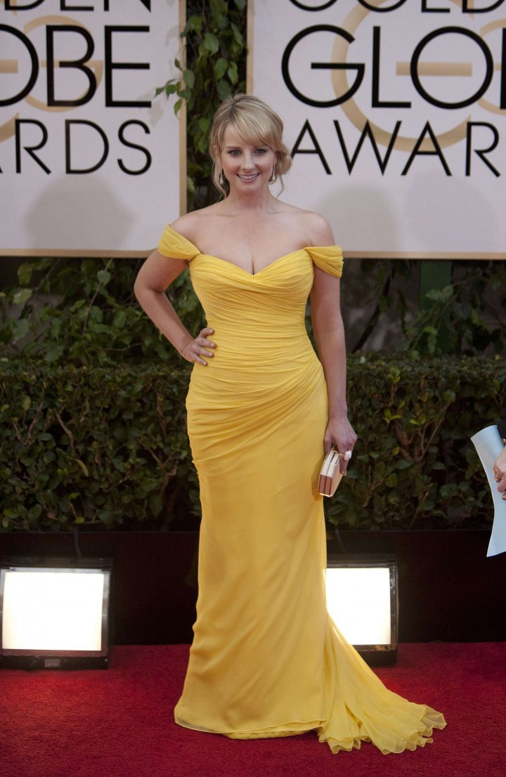 Melissa rauch at 71st annual golden globe awards in beverly hills new picture