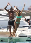 Melissa Satta - Bikini on yacht in Sardinia-14