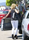Mena Suvari - Hot in Tight White Jeans In LA