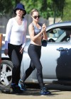 Mena Suvari show her body in black spandex in LA-10