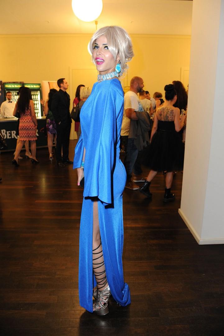 Micaela Schaefer at fashion show during Mercedes-Benz Fashion Week