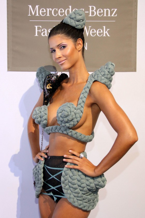 Micaela Schaefer - In Hot and Sexy Outfit at 2012 Mercedes Benz Fashion Week