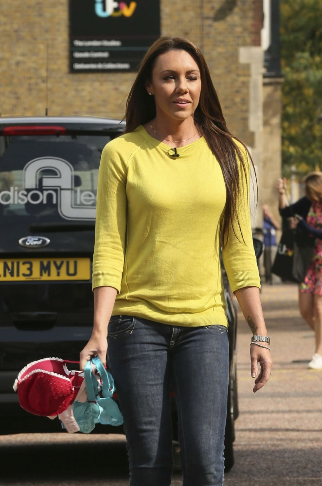 Michelle Heaton in Tight Jeans Outside the London Studios