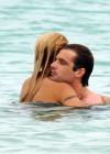 Michelle Hunziker - Black Bikini Candids in Miami-11