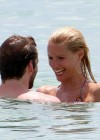 Michelle Hunziker - Wear thong bikini in Miami-02