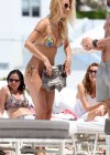 Michelle Hunziker - Wear thong bikini in Miami-04