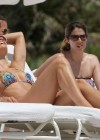 Michelle Hunziker - Wear thong bikini in Miami-23