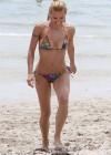 Michelle Hunziker - Wear thong bikini in Miami-25