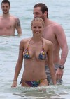 Michelle Hunziker - Wear thong bikini in Miami-27