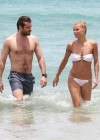 Michelle Hunziker Hot bikini candids in Miami-08