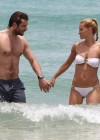 Michelle Hunziker Hot bikini candids in Miami-13