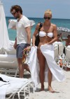 Michelle Hunziker Hot bikini candids in Miami-24