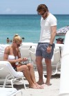 Michelle Hunziker Hot bikini candids in Miami-27